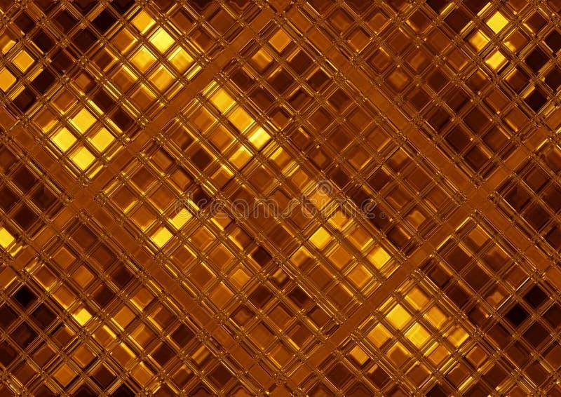 Luxe gouden mozaïek, abstracte gouden tegel vector illustratie
