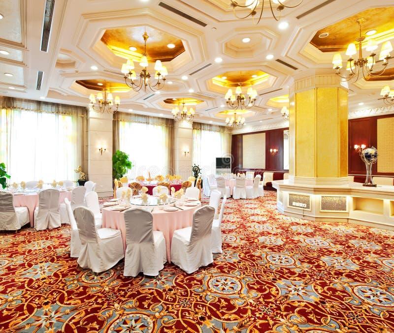 Luxe het dineren zaal royalty-vrije stock foto's