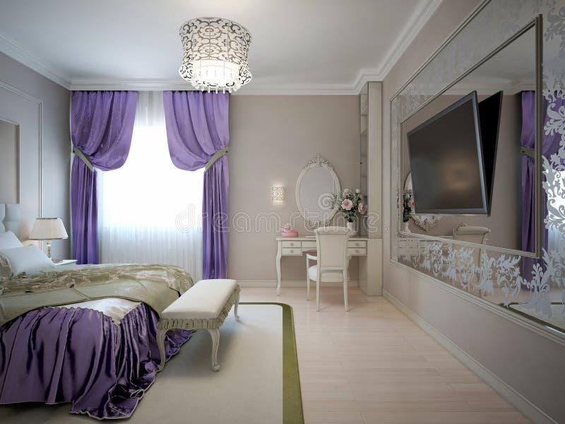 Luxe hoofdslaapkamer royalty-vrije illustratie