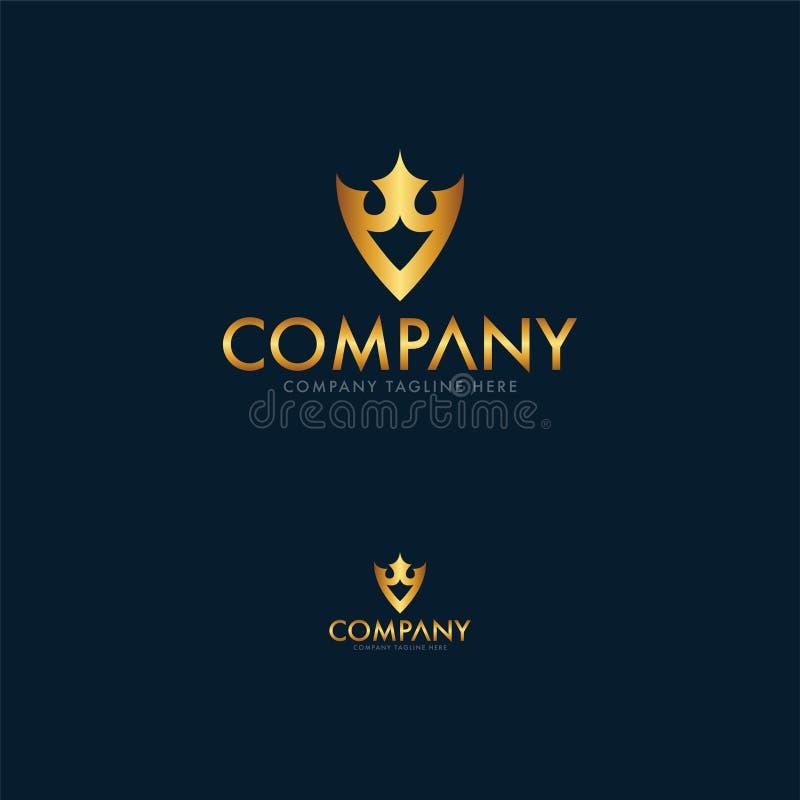 Luxe Koninklijk Logo Design Template stock illustratie