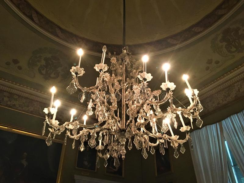 Luxe, lamp en kasteel royalty-vrije stock foto