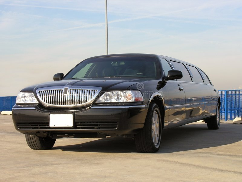 Luxe Lincoln Limo royalty-vrije stock foto