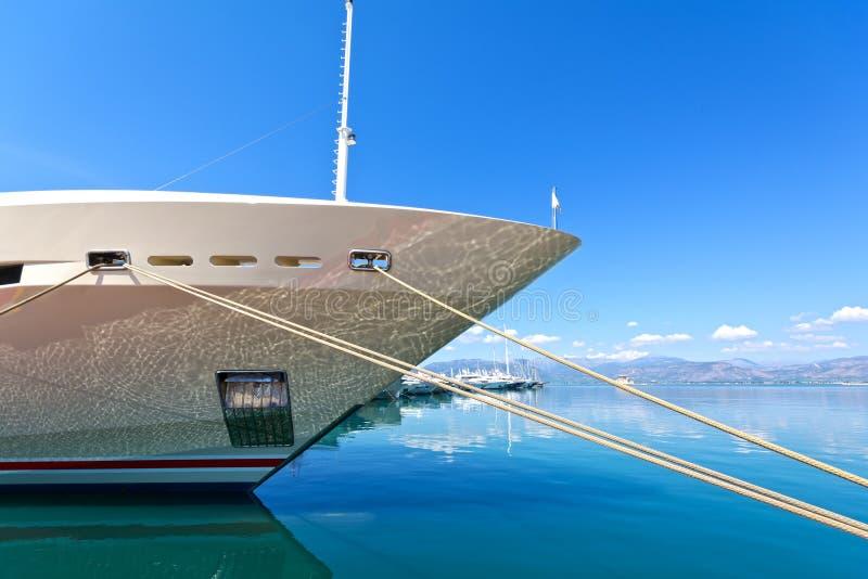 Luxe mega-jacht stock fotografie