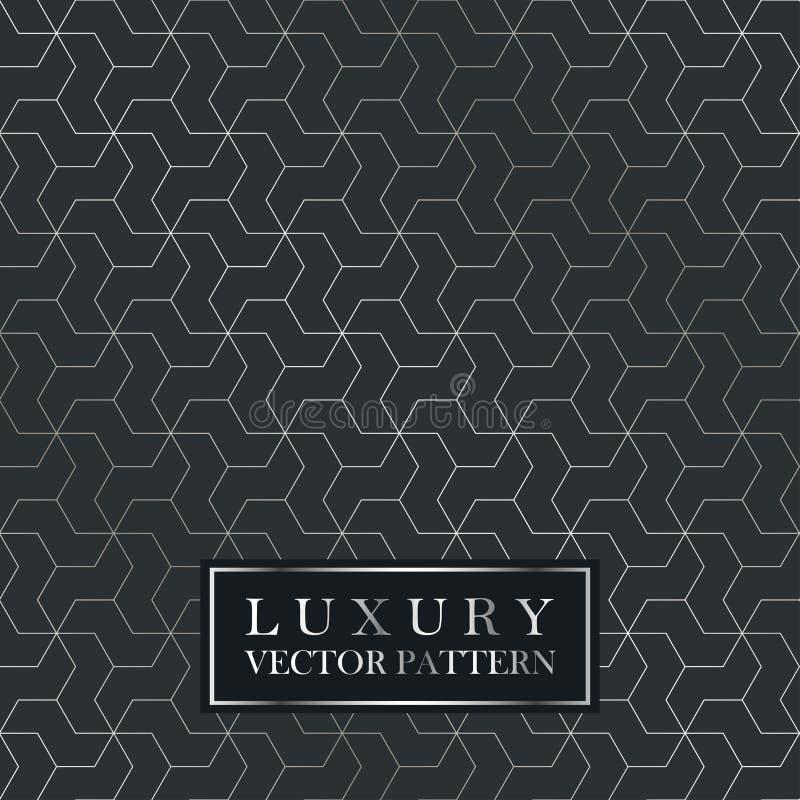 Luxe naadloos geometrisch patroon - de textuur van de netgradiënt royalty-vrije illustratie