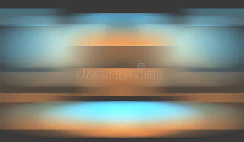 Luxe oranje blauwe achtergrond stock afbeeldingen