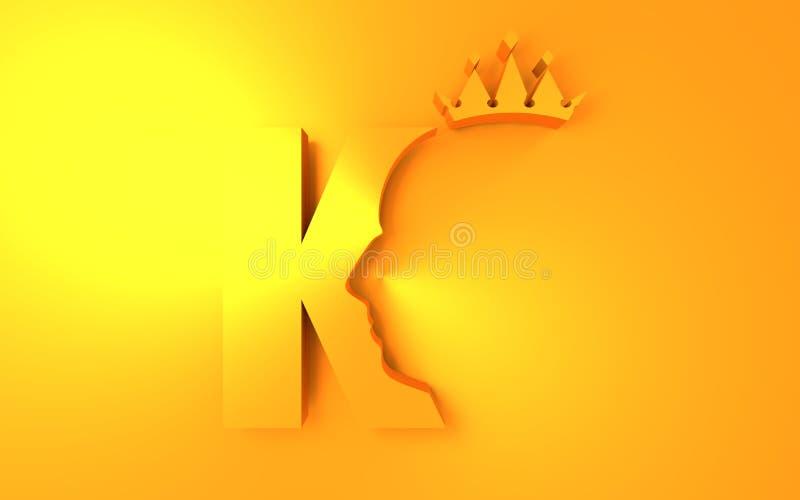 Luxe royal de roi illustration stock