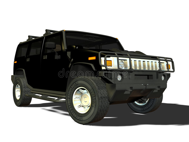 Luxe SUV illustration stock