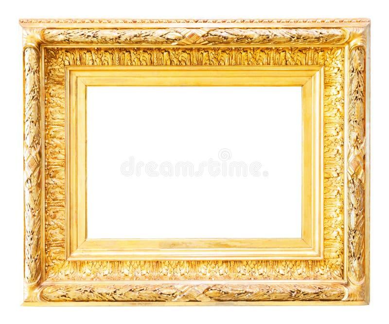 Luxe verguld kader over wit royalty-vrije stock foto
