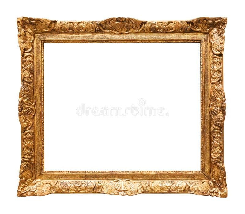 Luxe verguld spiegelkader royalty-vrije stock afbeeldingen