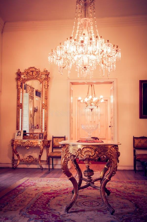 Luxe Victoriaans Gestileerd Binnenland stock afbeelding