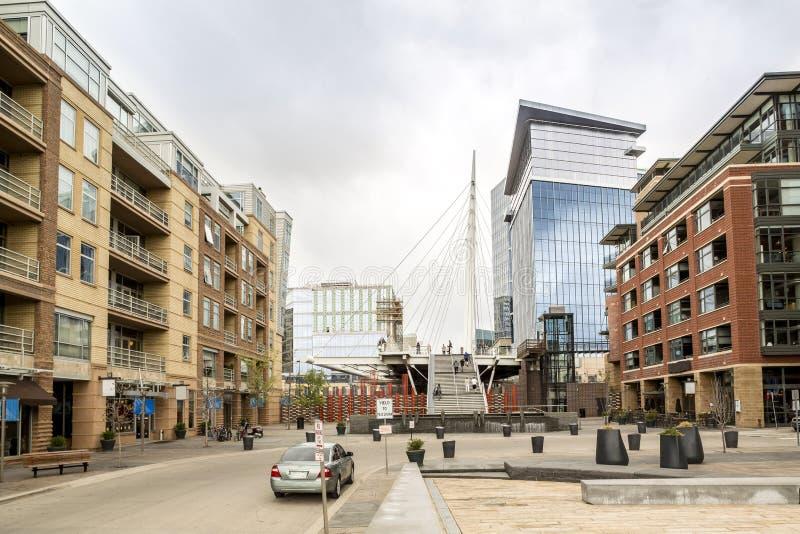 Luxe woningbouw in Denver de stad in, Colorado stock foto's