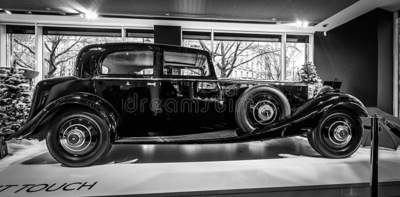 Luxeauto Rolls-Royce Phantom II Continentaal Park Ward Touring Saloon, 1933 royalty-vrije stock afbeelding