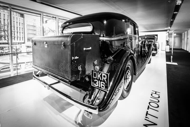 Luxeauto Rolls-Royce Phantom III het Reizen Limousine, 1937 stock foto's