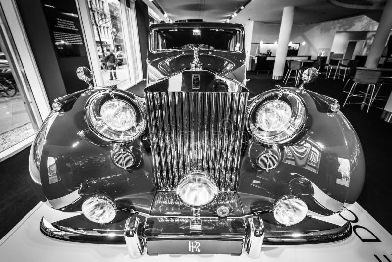 Luxeauto Rolls-Royce Phantom IV sedanca DE ville limousine, 1952 Coachwork door Hooper van Londen stock foto's