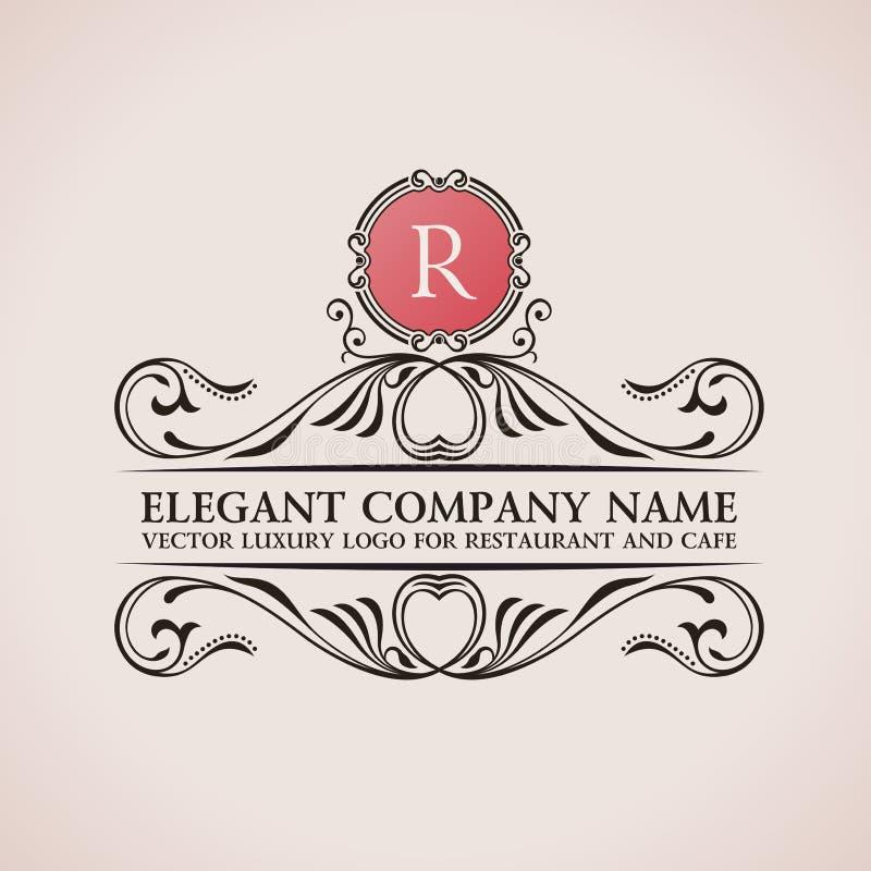 Download Luxeembleem Kalligrafisch Patroon Elegant Decor Vector Illustratie - Illustratie bestaande uit frame, element: 54089169