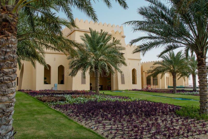 Luxehotel in Abu Dhabi Desert royalty-vrije stock afbeelding