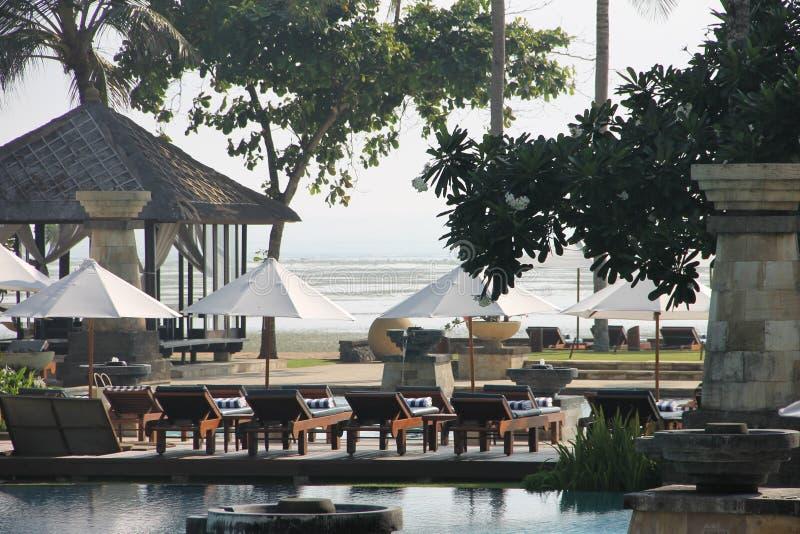 Luxehotel in Bali stock afbeeldingen