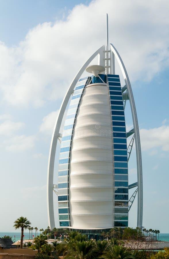 Luxehotel Burj Al Arab Tower van de Arabieren stock afbeeldingen
