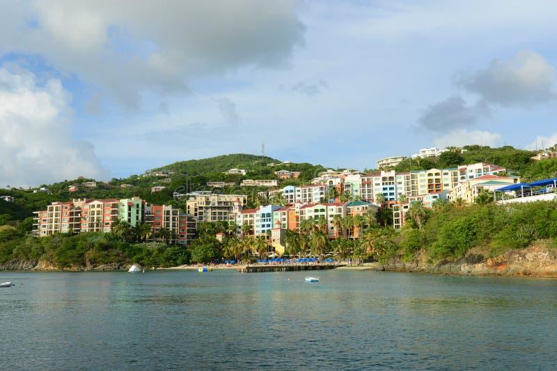 Luxehotel in Charlotte Amalie, de Maagdelijke Eilanden van de V.S. royalty-vrije stock foto's