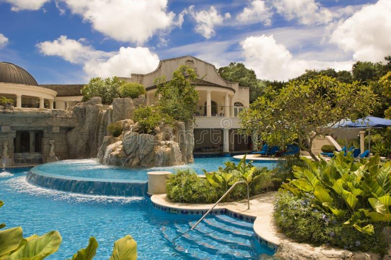 Luxehotel Sandy Lane, Barbados, Caraïbische Zee royalty-vrije stock foto