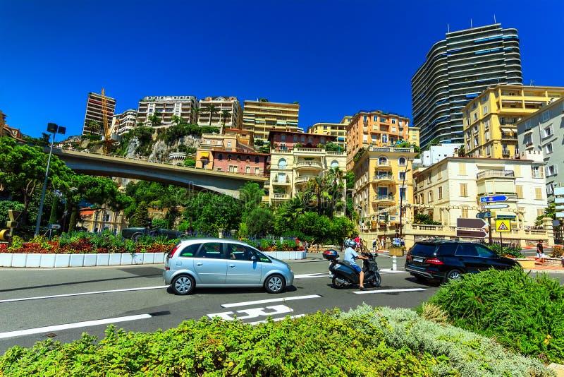 Luxehuizen en flats in Monte Carlo, Monaco, Europa royalty-vrije stock foto