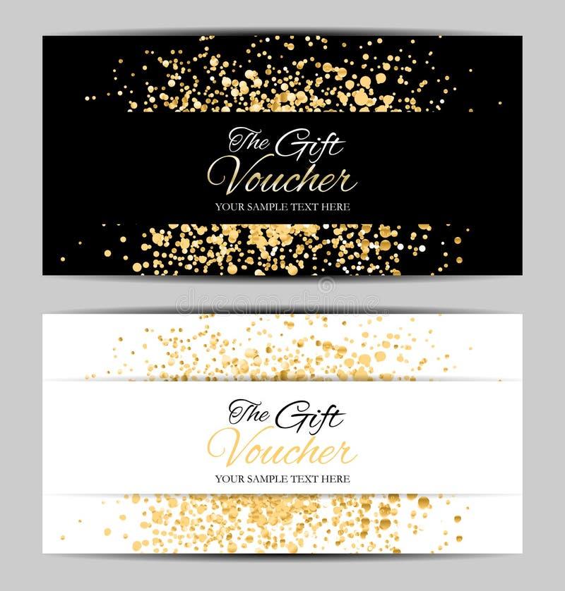 Luxeleden, het Malplaatje van de Giftkaart voor uw Bedrijfs Vectorillustratie royalty-vrije illustratie