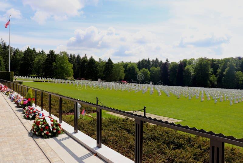 Luxembourg amerikansk kyrkogård och minnesmärke under en ferie royaltyfri foto