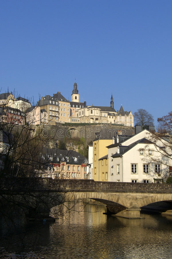 Download Luxembourg Bridge Over River Stock Image - Image: 7622059