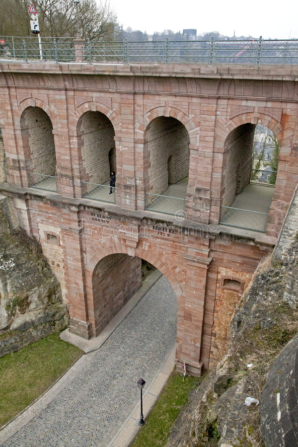 Luxembourg casemates royalty free stock image