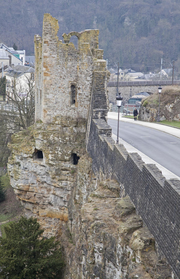 Luxembourg casemates stock images