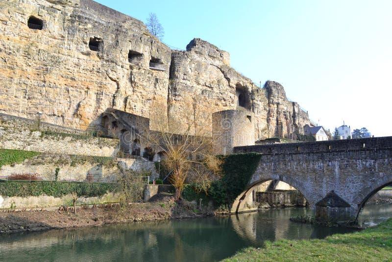Luxembourg city, Bock Casemates stock photography