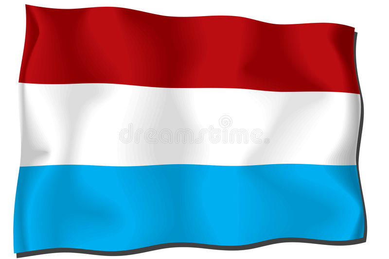 Download Luxembourg Flag stock illustration. Image of cotton, linen - 6872972