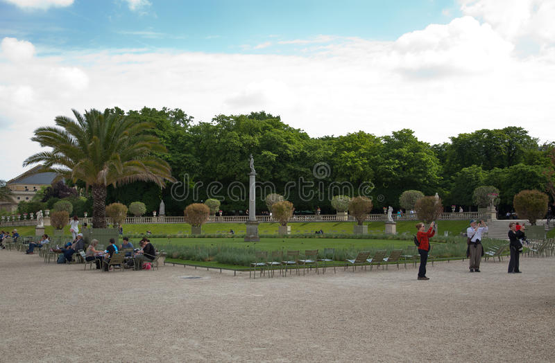 Luxembourg Garden(Jardin du Luxembourg) in Paris, France.  royalty free stock photography