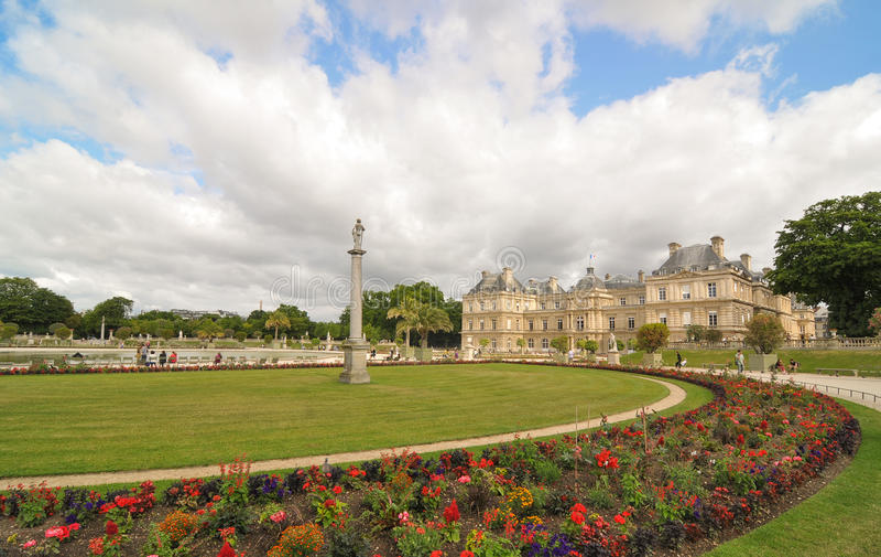 Luxembourg Garden (Jardin du Luxembourg) in Paris, France stock photo