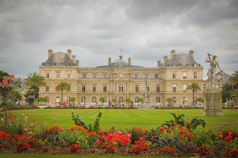 Luxembourg Garden (Jardin du Luxembourg) in Paris, France royalty free stock photo