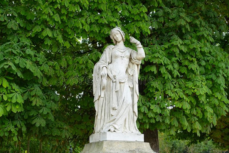 Luxembourg garden statue royalty free stock photos