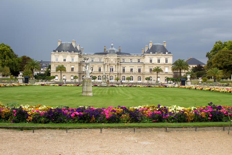 Luxembourg gardens in Paris royalty free stock photo