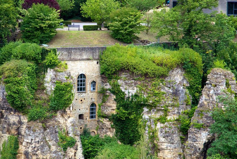 Download Luxembourg house in a rock stock photo. Image of benelux - 28449486