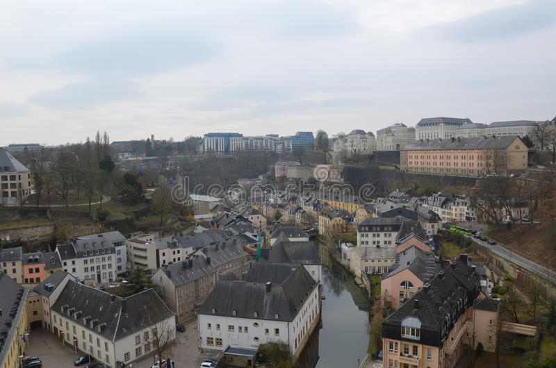 Download Luxembourg stock photo. Image of river, houses, like - 30816274