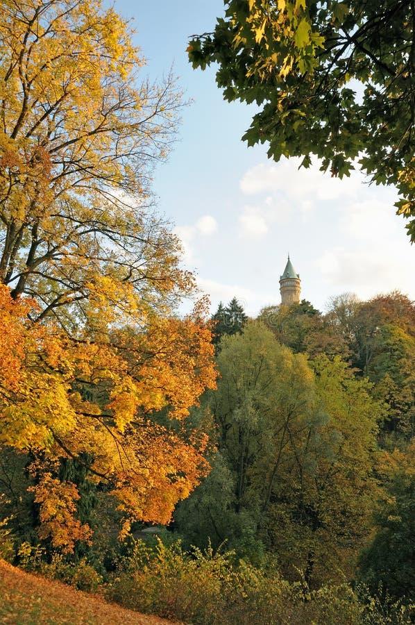 Luxembourg i höst royaltyfria foton