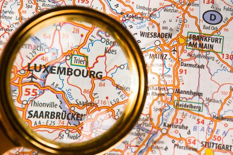 luxembourg kartografuje obrazy royalty free
