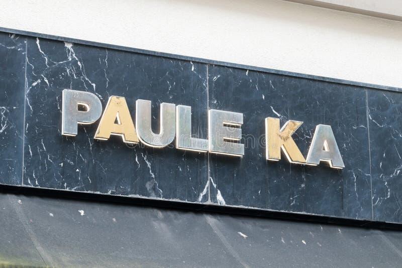 Paule Ka sign. Paule Ka is a French ready-to-wear brand stock images
