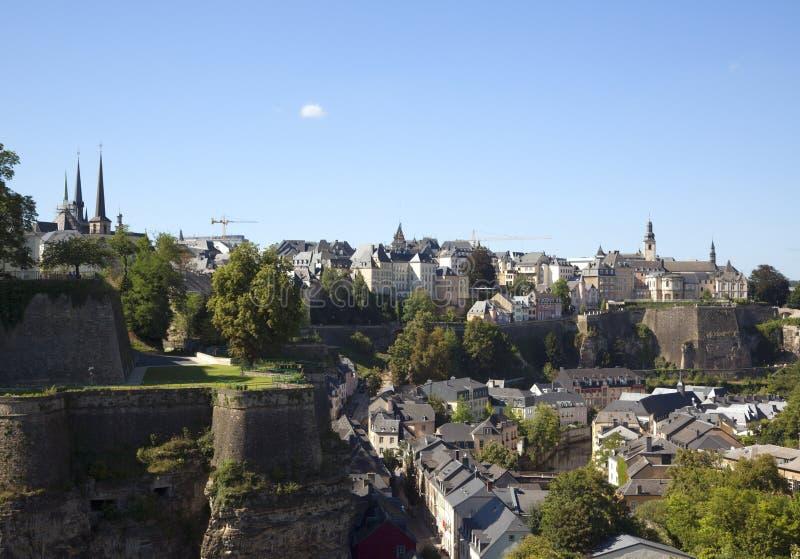 luxembourg nad widok obraz stock