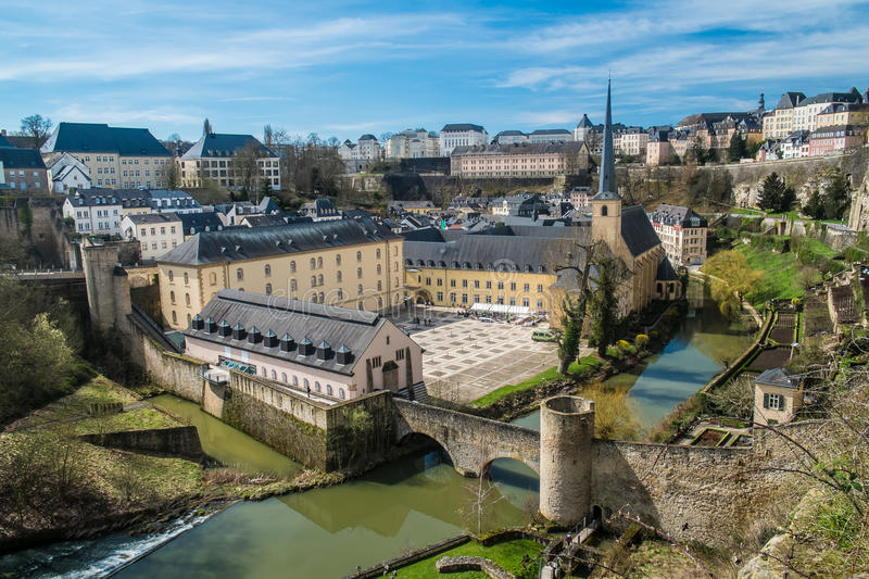 Luxembourg Neumünster abbey royalty free stock photo