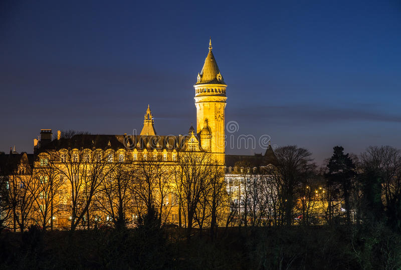 Luxembourg night scene stock images
