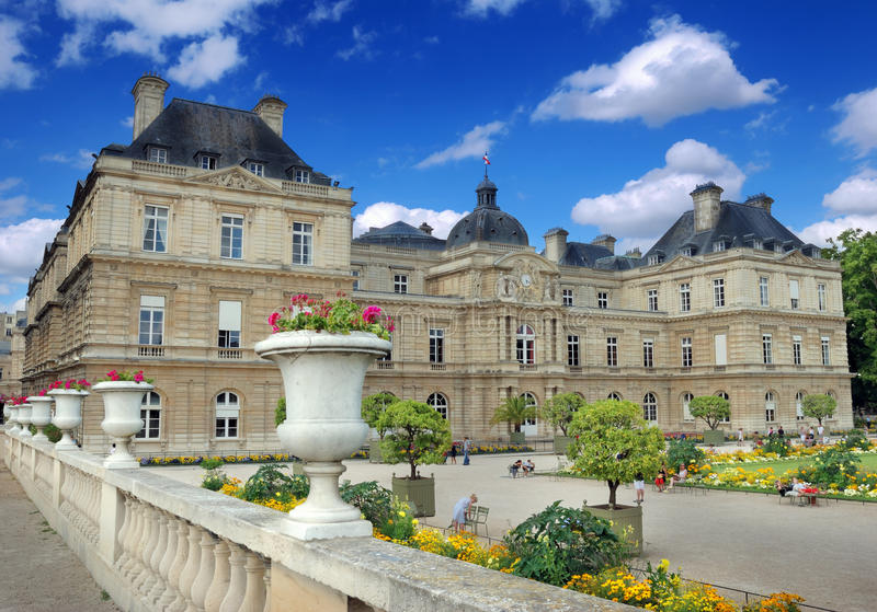 Download Luxembourg Palace. stock photo. Image of architecture - 26608332