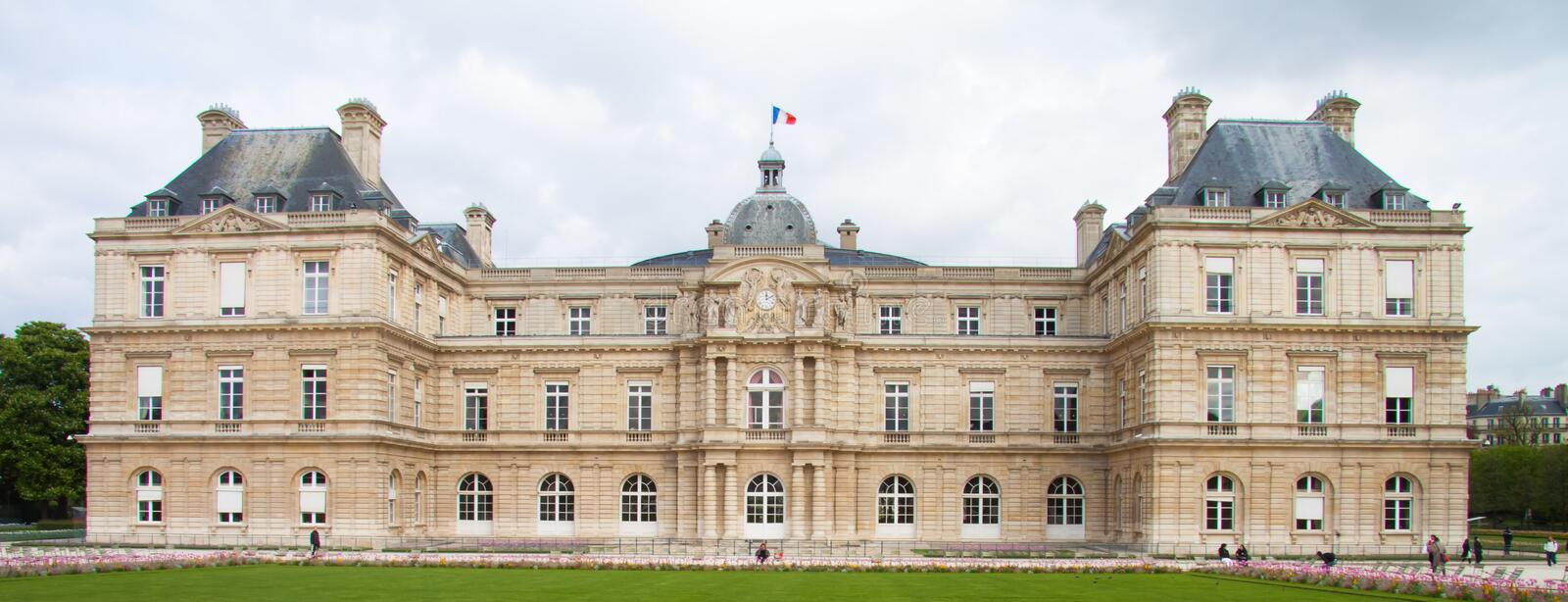 Luxembourg Palace Palais du Luxembourg in the Luxembourg Gardens in Paris royalty free stock photo