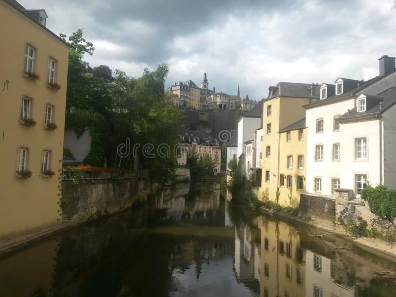 Luxembourg reflection royalty free stock photos