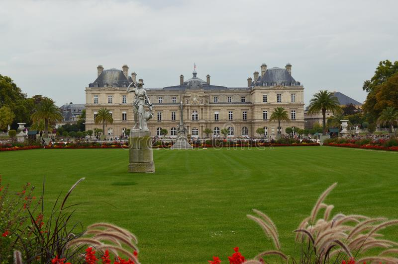 Luxembourg trädgårdar arkivfoto