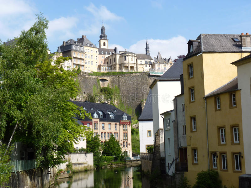 Download Luxembourg view stock photo. Image of buildings, quaint - 14406054